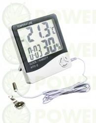 Termómetro Higrómetro Digital con Sonda Pantalla Grande (VDL)