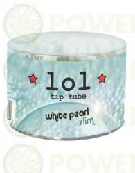 FILTRO LOL TIP TUBE WHITE PEARL SLIM 100 UNIDADES