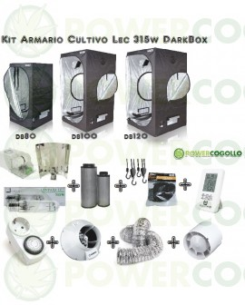 Kit Armario Cultivo Lec 315w Dark Box