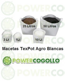 Maceta TexPot Agro Blanca