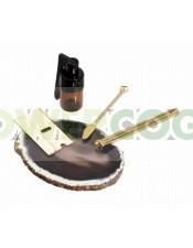 Estuche: Piedra Agata, Tubo, Cuchilla, Cuchara y Bote