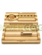 Bandeja RAW Backflip Bamboo Rolling Tray-Rayas