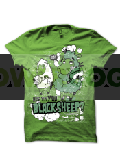 Camiseta Black Sheep de Smonkey T-Shirts Cannabicas