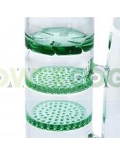 Bong D-Lux Triple Difusor de Cristal 40cm Verde