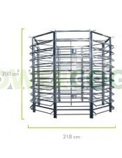 Cultivo Vertical Hidropónico 400 Plantas Medidas