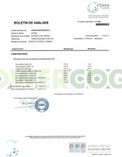 Analitica Extracción de CBD 5% Solid - BLUEBERRY