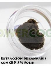 Extracción de CBD 5% Solid - BLUEBERRY