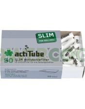 Filtros ActiTube Slim 7mm Boquillas Carbón Activo 50 unidades