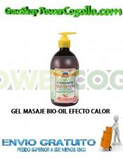 GEL MASAJE BIO-OIL EFECTO CALOR 500ML PALACIO
