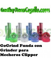 Mechero Clipper GOGRIND + FUNDA + GRINDER