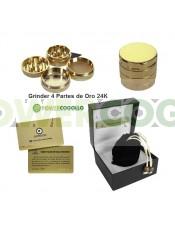 Grinder 4 Partes de Oro 24K de Lujo Real 55mm