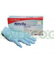 GUANTES NITRILO AZULES TALLA L (10und)