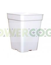 Maceta Blanca Cuadrada de 11 litros para Semillas Autoflorecientes exterior