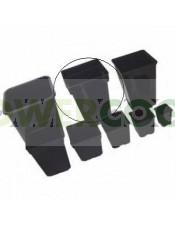 Maceta Negra Cuadrada 20x20x28 cm (7Lt)
