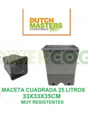 Maceta Cuadrada Negra 25 Litros (Dutch Masters)