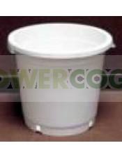 Maceta Blanca Redonda 25cm (10Lt)