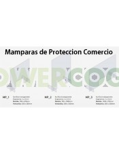 Mampara de Protección Transparente 70x67cm