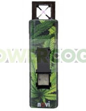 Mechero de Plasma Novi Ixnite Hoja Marihuana