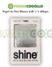 Papel de Oro Blanco 24K 1/4 2 Hojas