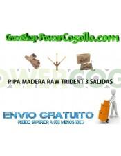 Pipa Madera Trident Raw (3 Conos)