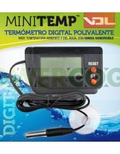 Termómetro MINITEMP polivalente mide temperatura ambiente y también del agua o sustrato
