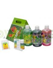 TriPack Flora Series Agua Dura Abono para el Cultivo de Marihuana
