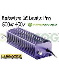 Balastro 600W 400v Lumatek Ultimate Pro Bombilla Incluida