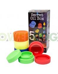 Bote Silicona para BHO Secret Oil Box (5 unidades)