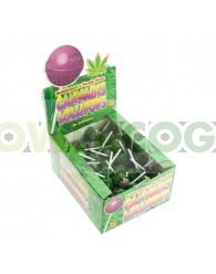 Chupa Chup de Marihuana Purple Haze con chicle