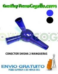 CONECTOR SHISHA DE 1 A 2 MANGUERAS