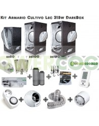 Kit Armario Cultivo Lec 315w Dark Box