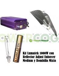Kit Lumatek 1000W Reflector Adjust Enforcer Medium