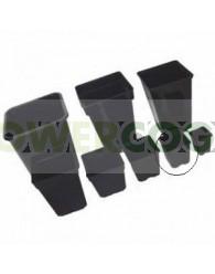 Maceta Cuadrada Negra 9x9x10cm (0.6L)