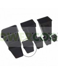 Maceta Cuadrada Negra 13x13x13cm (1L)