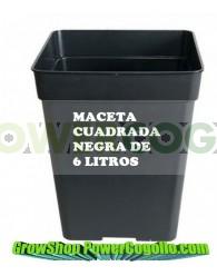 Maceta Negra Cuadrada (5,5 Lt)