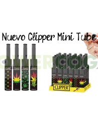 Mechero Clipper Tube Leaves