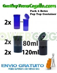 Pack 6 Botes Pop Top Container