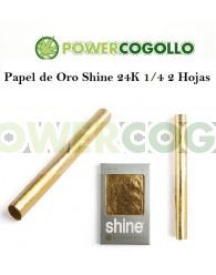 Papel de Oro Shine 24K 1/4 2 Hojas