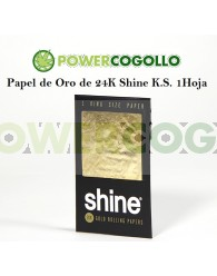 Papel de Oro 24K Shine King Size 1 Hoja
