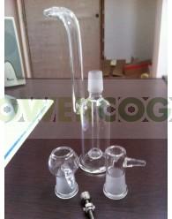 Pipa Bubbler BHO 3 piezas 21 cm con Tornillo Titanio