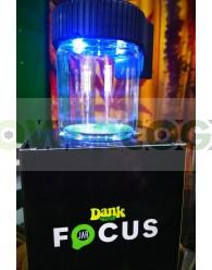 Tarro de Vidrio con Lupa y LED Dank 420