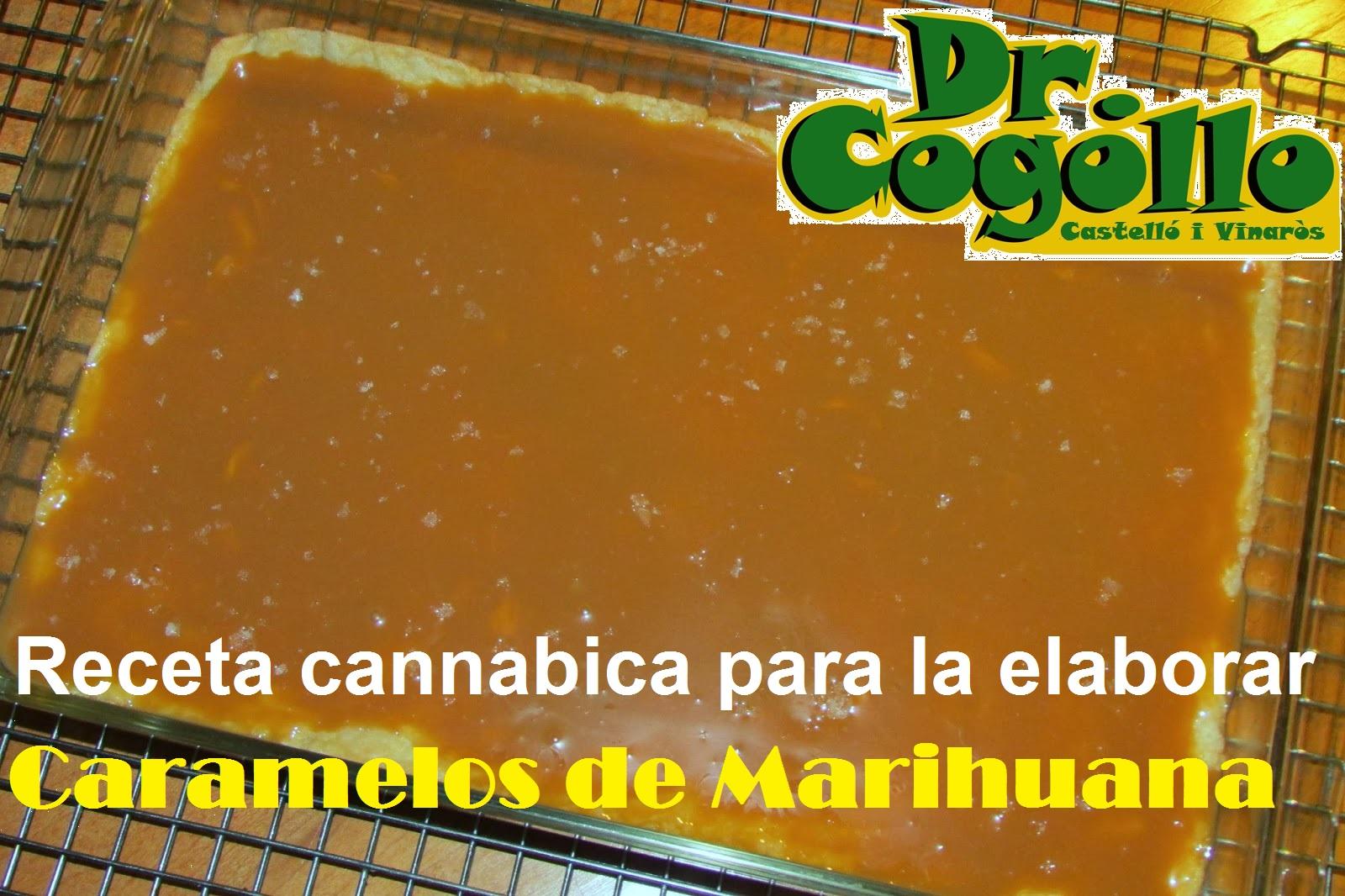 Bandeja con Caramelo de Cannabis para cortar