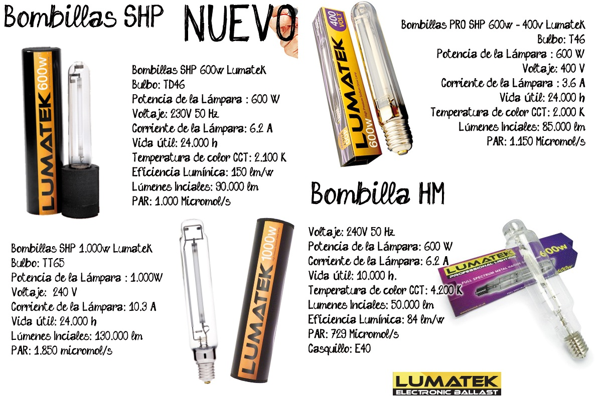 Blog powercogollo dr cogollo growshop lumatek de los for Bombillas cultivo interior