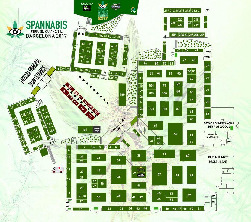 plano feria spannabis 2017 barcelona